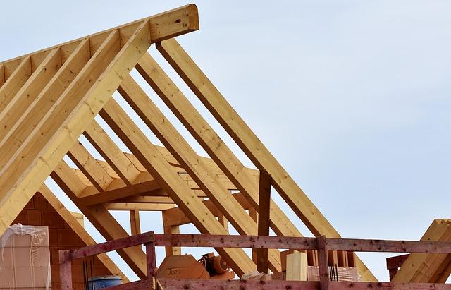 Byggeprojekt med trælast