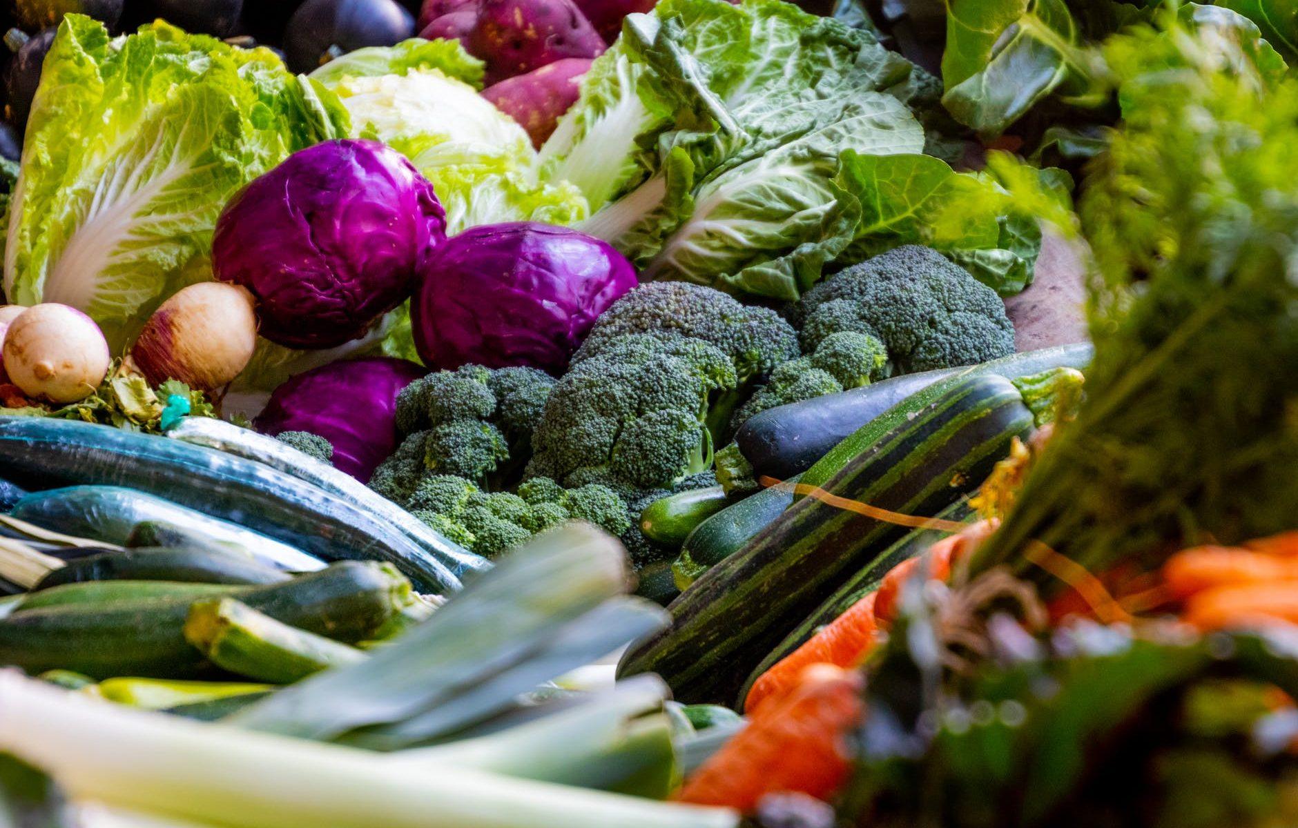 En masse forskellige slags grøntsager